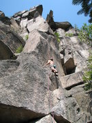 "Rock Climbing Photo: Dima, starting up the arete ""Butolicious&quot..."
