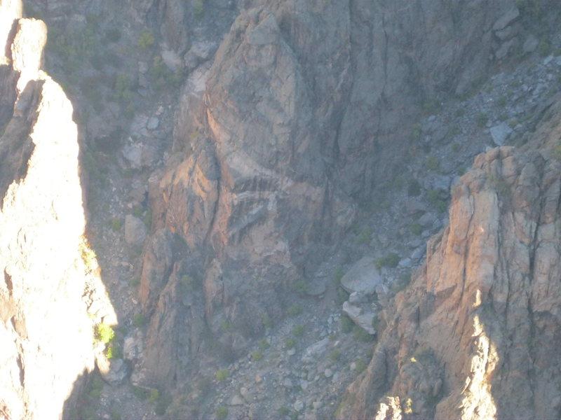 Rock Climbing Photo: Lauren's Arete start.