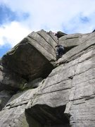 Rock Climbing Photo: The finish of Inaccessible Crack (photo by Phil As...
