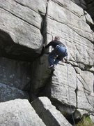 Rock Climbing Photo: The start of Inaccessible Crack  (photo by Phil As...