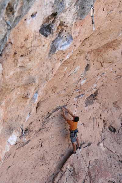 Rock Climbing Photo: Procrastinating at the start of the route. Photo b...