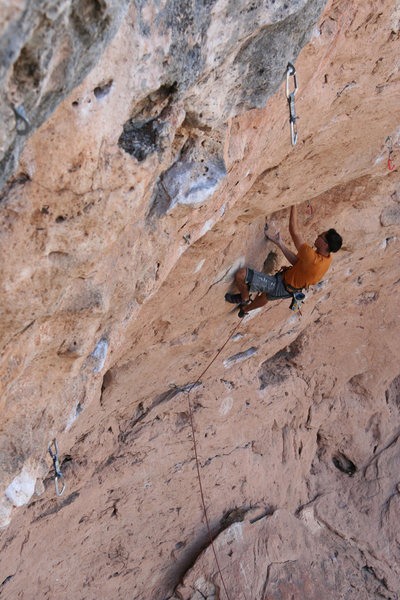 Rock Climbing Photo: Cool and physical undercling sequence. Photo by Ma...
