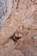 Rock Climbing Photo: Setting up for the climactic dyno at the end of th...