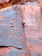 Rock Climbing Photo: Top roping about 2/3 way up. One problem we had wa...