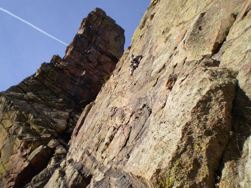 Rock Climbing Photo: about to remember how run-out Anthill Direct is