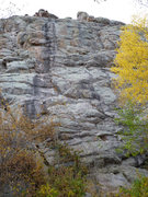 Rock Climbing Photo: Water Streak on left, and Middle Staircase on righ...