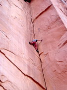 "Rock Climbing Photo: The second rest is on a 1"" foothold on the le..."