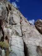 Rock Climbing Photo: Chuck on the easy ground on P1. The P1 crux is rig...