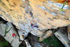 Rock Climbing Photo: Enjoying the fun, juggy climbing on Toker. October...