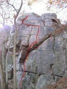 Rock Climbing Photo: Hang Dog right....  a bit easier but utilizes same...