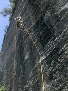 Rock Climbing Photo: Andrew on the FA
