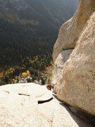 Rock Climbing Photo:   Near the top of the classic route Regge Pole,......