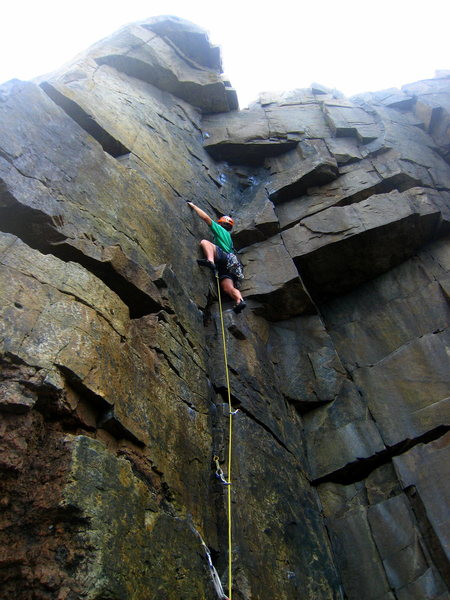 Rock Climbing Photo: Approaching the upper crux.