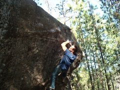 Rock Climbing Photo: Doing the first move