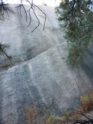Rock Climbing Photo: Route follows red line but for a little more chall...