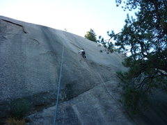 Rock Climbing Photo: Climber is between bolts two and three.