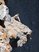 Rock Climbing Photo: Michele following the arete pitch, high on Portabl...
