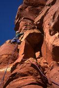 Rock Climbing Photo: Tomas turning the limestone band just below the fi...
