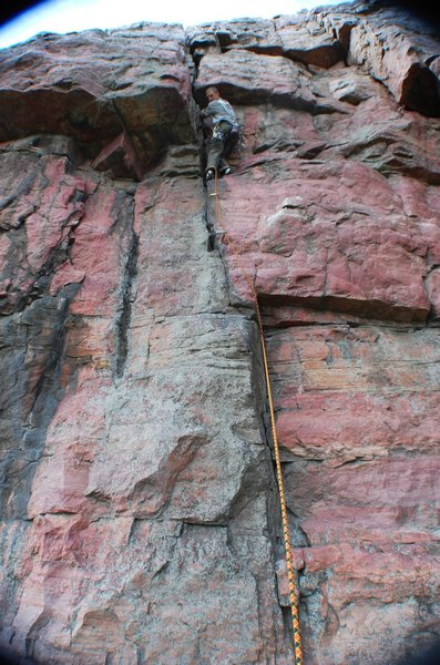 Rock Climbing Photo: X lead before crux