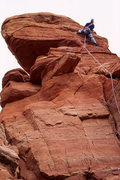 Rock Climbing Photo: Heather Hayes leading the wild face climbing at th...