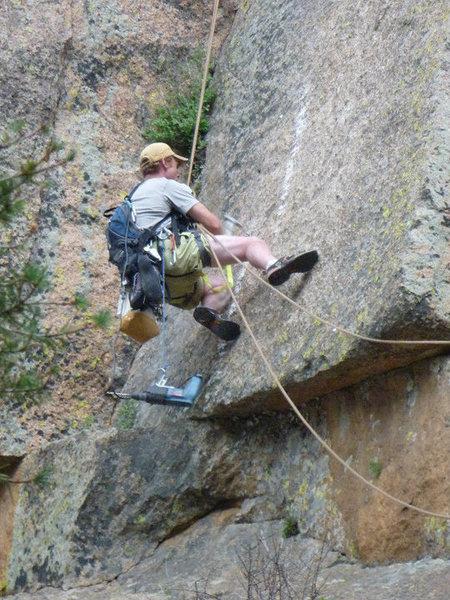Rock Climbing Photo: Drilling at Tzillastan