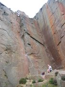 Rock Climbing Photo: The upper groove on Gt Portland St (photo Phil Ash...