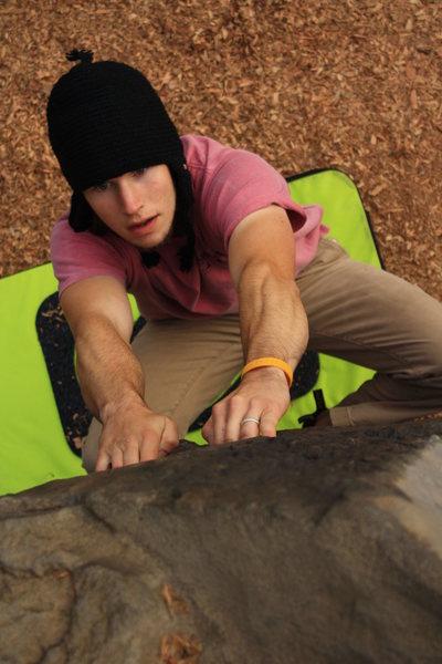 Rock Climbing Photo: Bouldering a warm up v1 at Orchard.