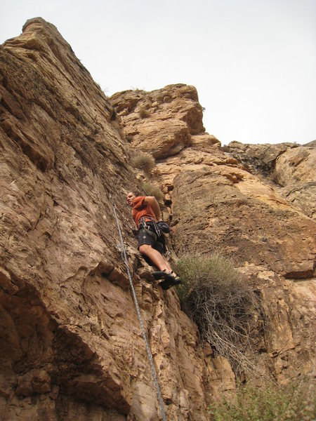 Rock Climbing Photo: Starting up Prickly Pear.