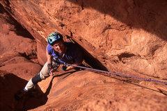 Rock Climbing Photo: Doug Biber follows the first pitch of Tiptoe.