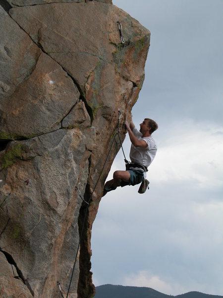 Rock Climbing Photo: Vaino Kodas on Golden Gate, 5.11d.