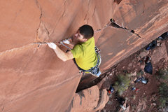 Rock Climbing Photo: Steven sending