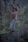 Rock Climbing Photo: Ian Campbell crimping on Stump