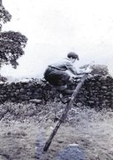 Rock Climbing Photo: Joe Brown in nails,possibly outside Wall End barn ...