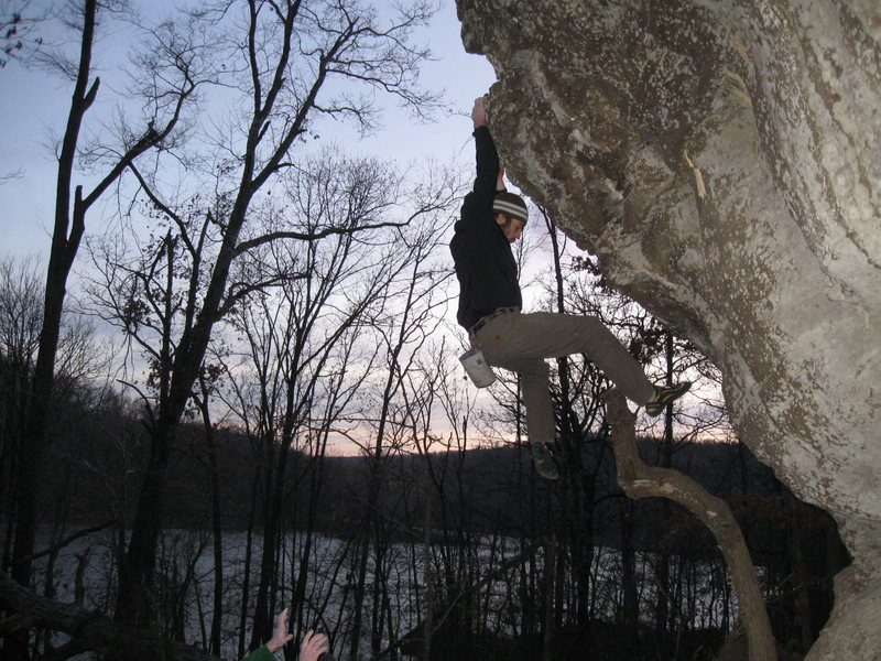 bouldering at Lake Lincoln