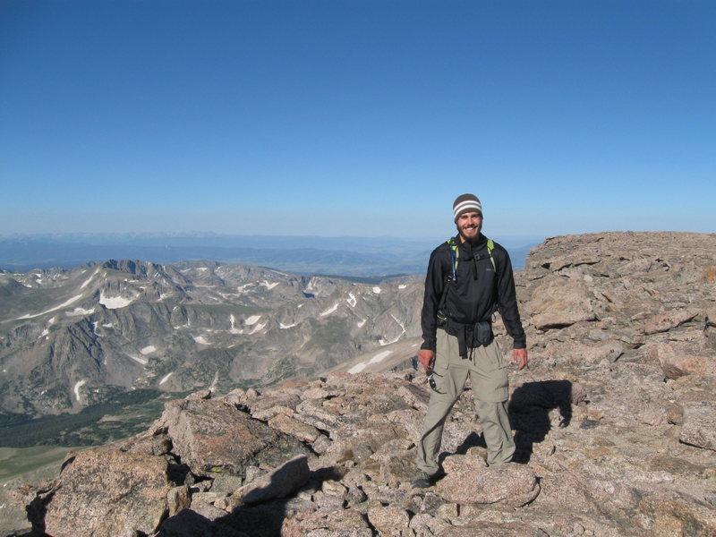 on top of Longs Peak