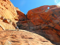 Rock Climbing Photo: First pitch of Mars Attacks