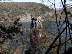 Rock Climbing Photo: Summit Party on Cleopatra's Needle... Maybe a litt...