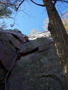 Rock Climbing Photo: Good butt shot on a great route.