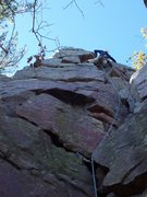 Rock Climbing Photo: Movin' up.
