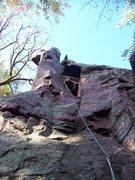 Rock Climbing Photo: Nearing the top.