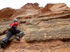 Rock Climbing Photo: The start of pitch 2 (I thought the mantle onto th...