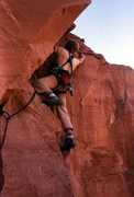 Rock Climbing Photo: Tim Coats on the Peter's Ladder crux- a wild hand ...