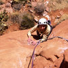 Heather Songster follows the pitch- really, does this look like one of the worst dirt clods in Sedona?