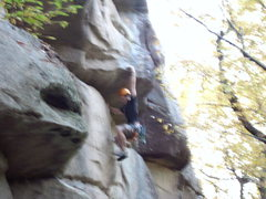 Rock Climbing Photo: Dylan working Master Exploder