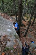 Rock Climbing Photo: seth topping out...