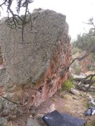 Rock Climbing Photo: Dime A Dozen Arete. If it weren't in Boulder, it w...