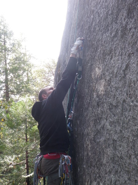 Rock Climbing Photo: Hook moves down low