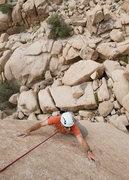 Rock Climbing Photo: Romain Wacziarg negotiates the final 20 feet of Gr...