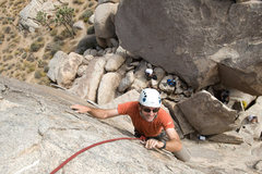Rock Climbing Photo: After leading the Southwest Arete, Romain takes ad...