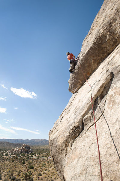 Romain Wacziarg on the Southwest Corner of the Headstone, Joshua Tree National Park